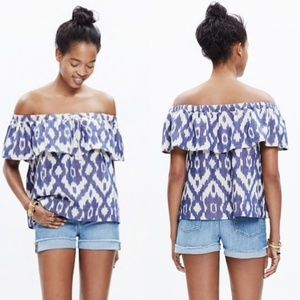 🌿Madwell Ikat Balcony Off The Shoulder Top XXS🌿
